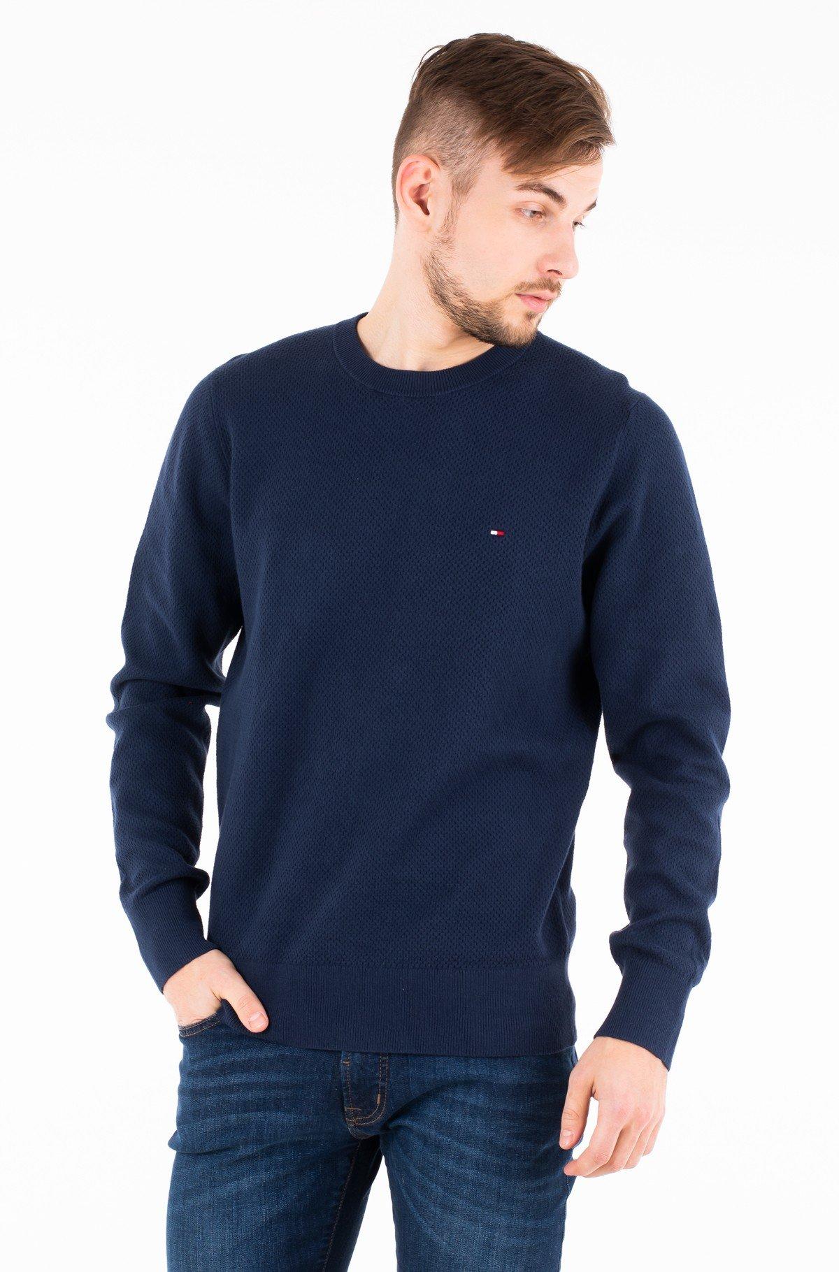 Sweater COTTON MESH STRUCTURED CREW NECK-full-1