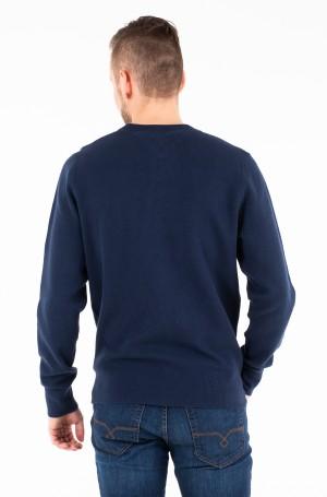 Sweater COTTON MESH STRUCTURED CREW NECK-2