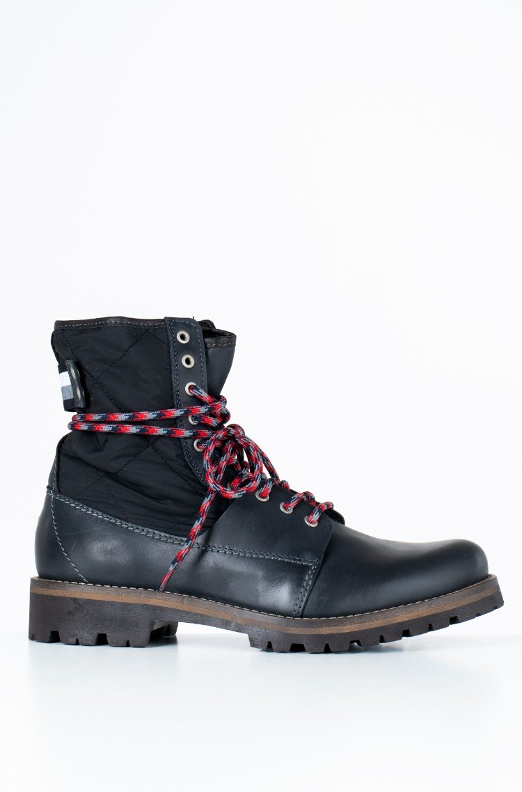 1623f8a5cdd20 black Boots HIGH MATERIAL MIX WINTER BOOT Tommy Hilfiger