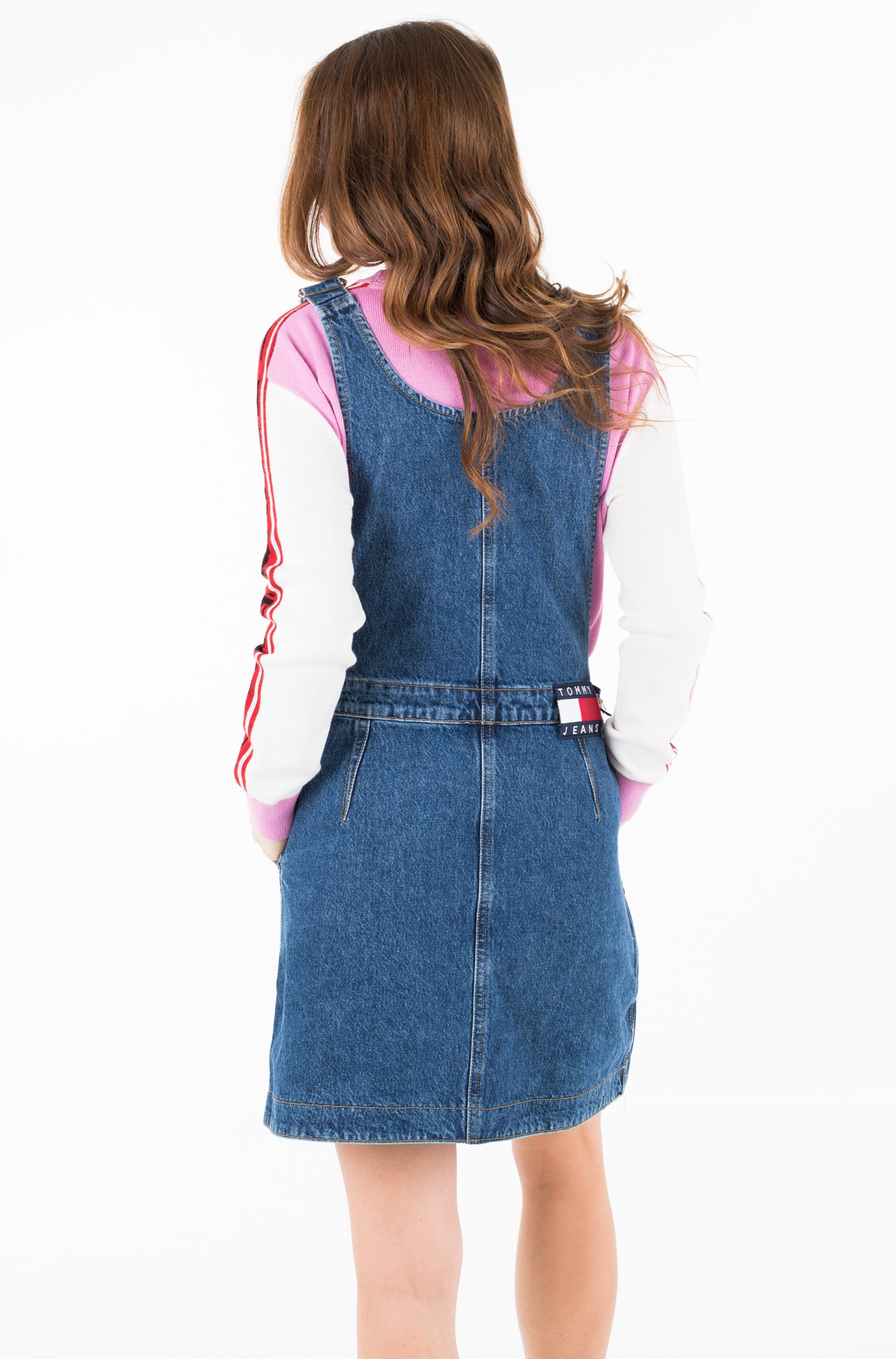 Teksakleit TJW A LINE DUNGAREE DRESS GHMB	-full-2