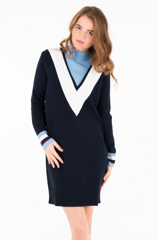 RAISSA MOCK-NK DRESS