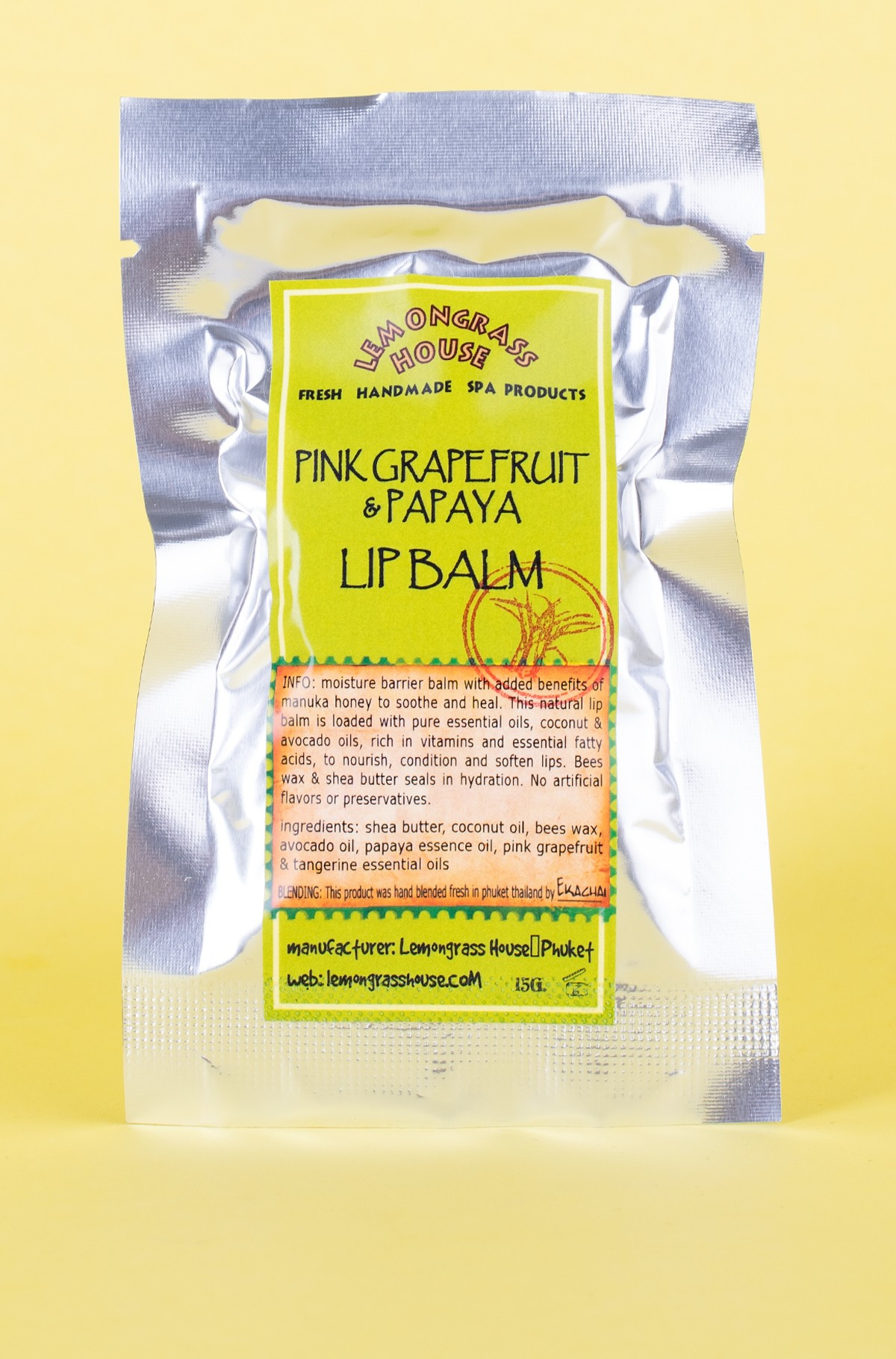 Huulepalsam LIP BALM PINK GRAPEFRUIT/PAPAYA 15 G-full-1