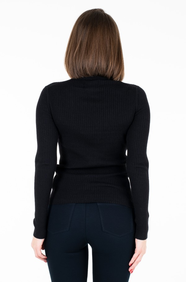 WOOL BLEND RIB TURTLENECK-hover