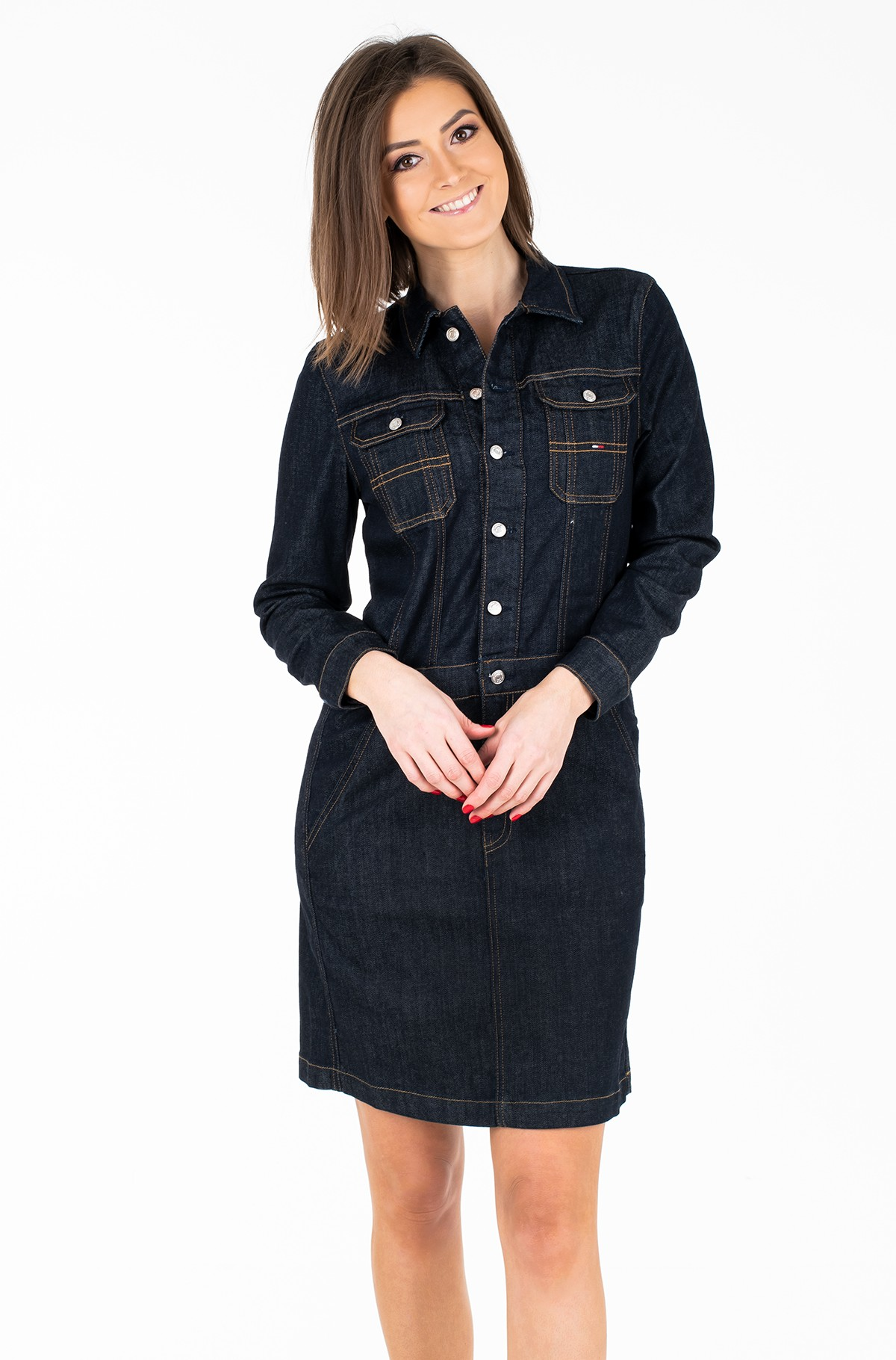 Kleit TJW DENIM DRESS L/S TYLRD-full-1