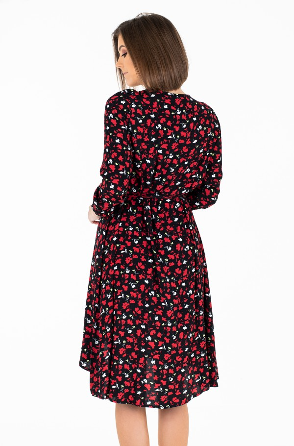 TJW FLORAL PRINTED WRAP DRESS-hover