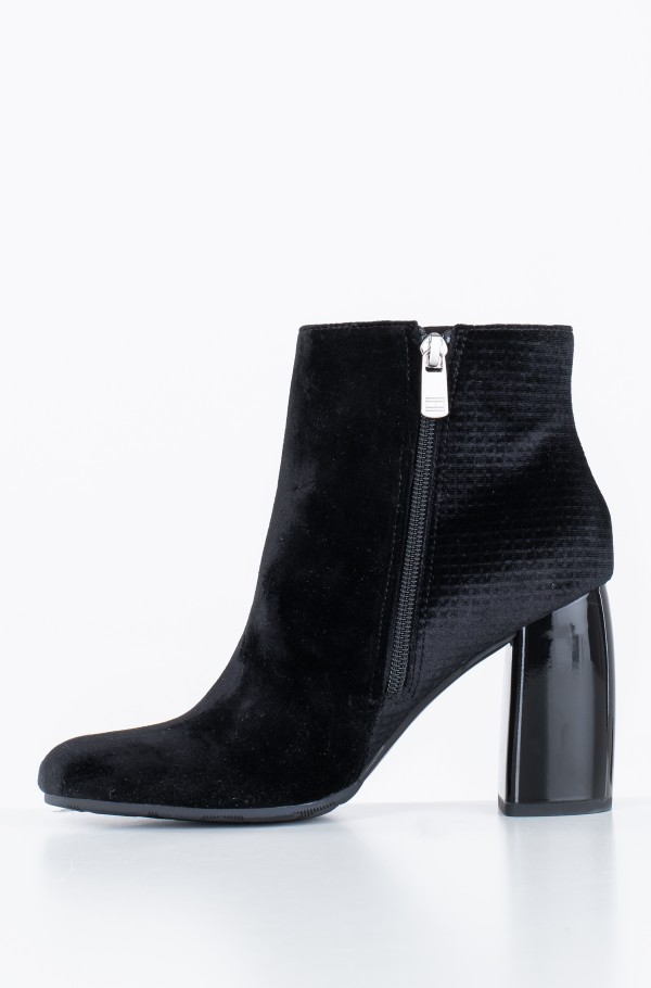 STRUCTURED VELVET BOOTIE-hover