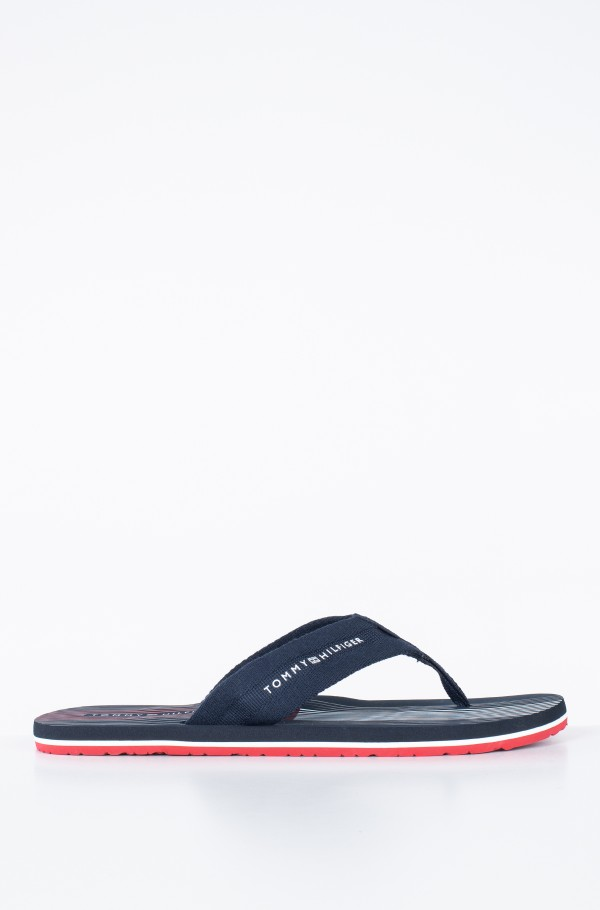 STRIPED FOOTBED BEACH SANDAL