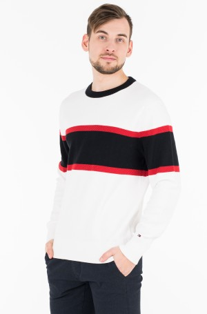 Kudum RELAXED FIT COLORBLOCK MESH CREW-1