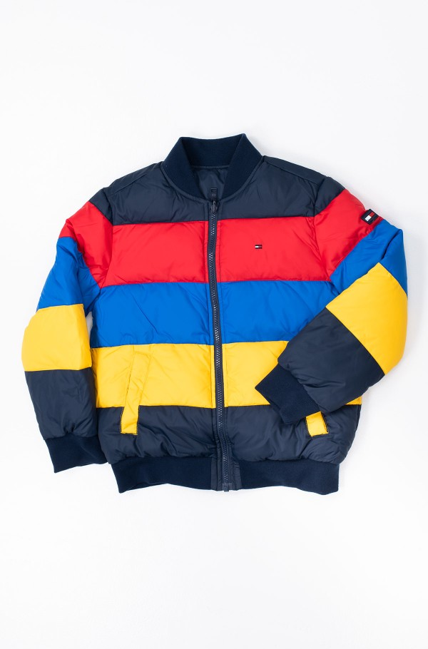 REVERSIBLE COLOR BLOCK PUFFER