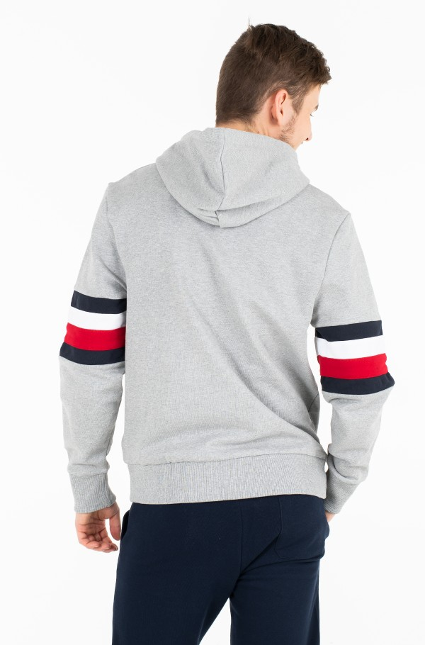 RELAXD PIECED HOODED ZIP THROUGH-hover