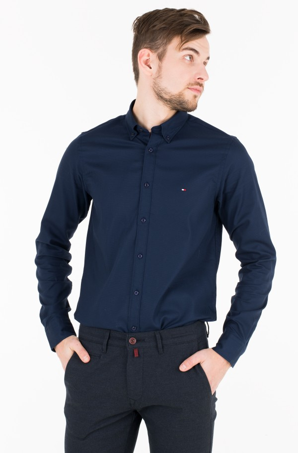 19d2b5dc7 Blue 3 Shirt SLIM STRETCH HEATHER DOBBY SHIRT Tommy Hilfiger, Mens ...