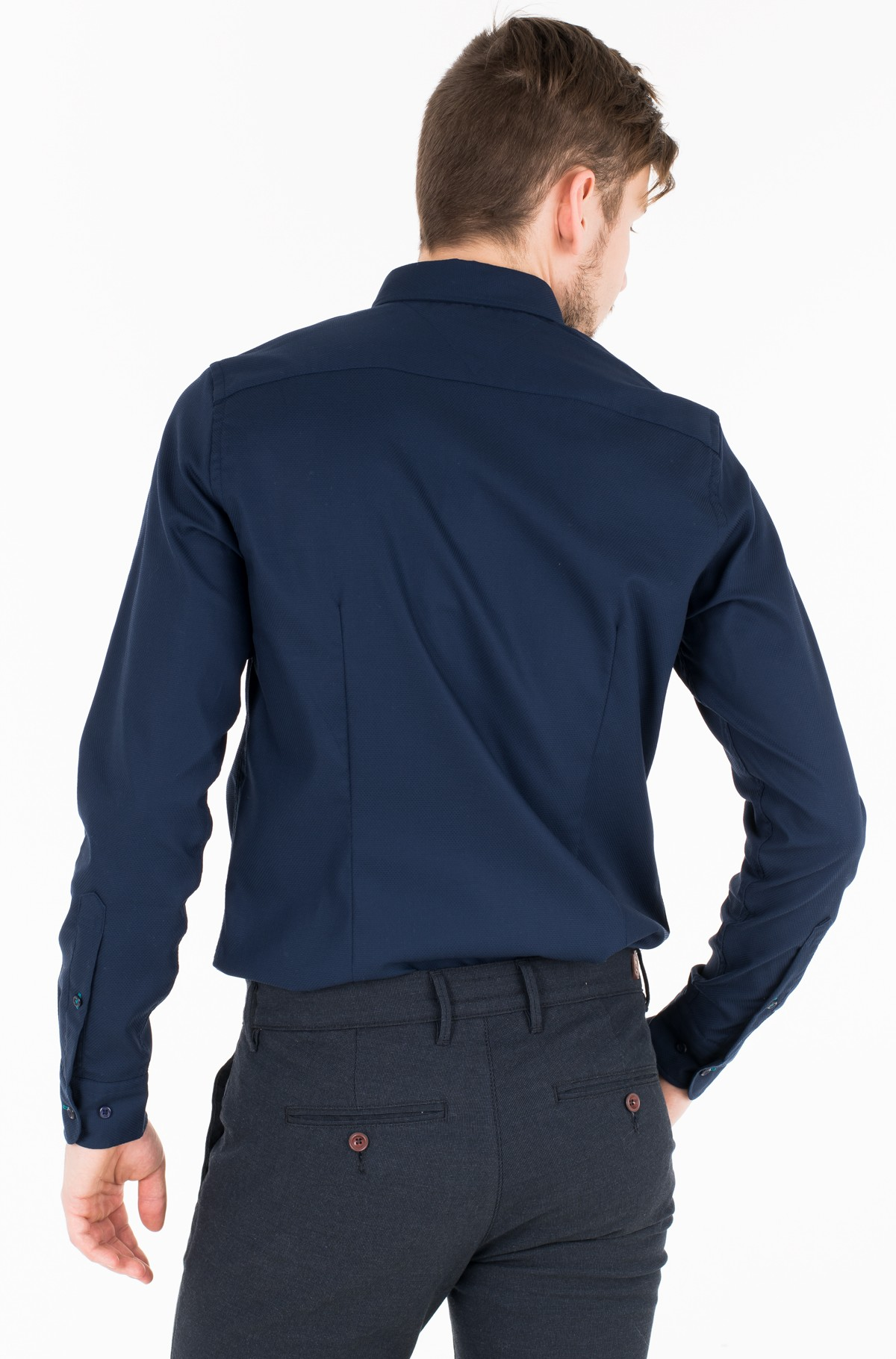Triiksärk SLIM CELLULAR DOBBY SHIRT	-full-2