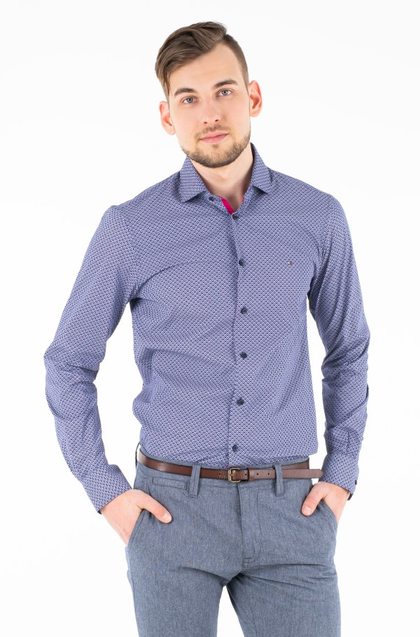 STRETCH PRINT CLASSIC SLIM SHIRT