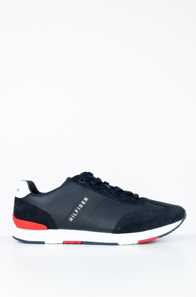 60f17b97b7d sini Casual shoes LEATHER MATERIAL MIX RUNNER Tommy Hilfiger, Mens ...