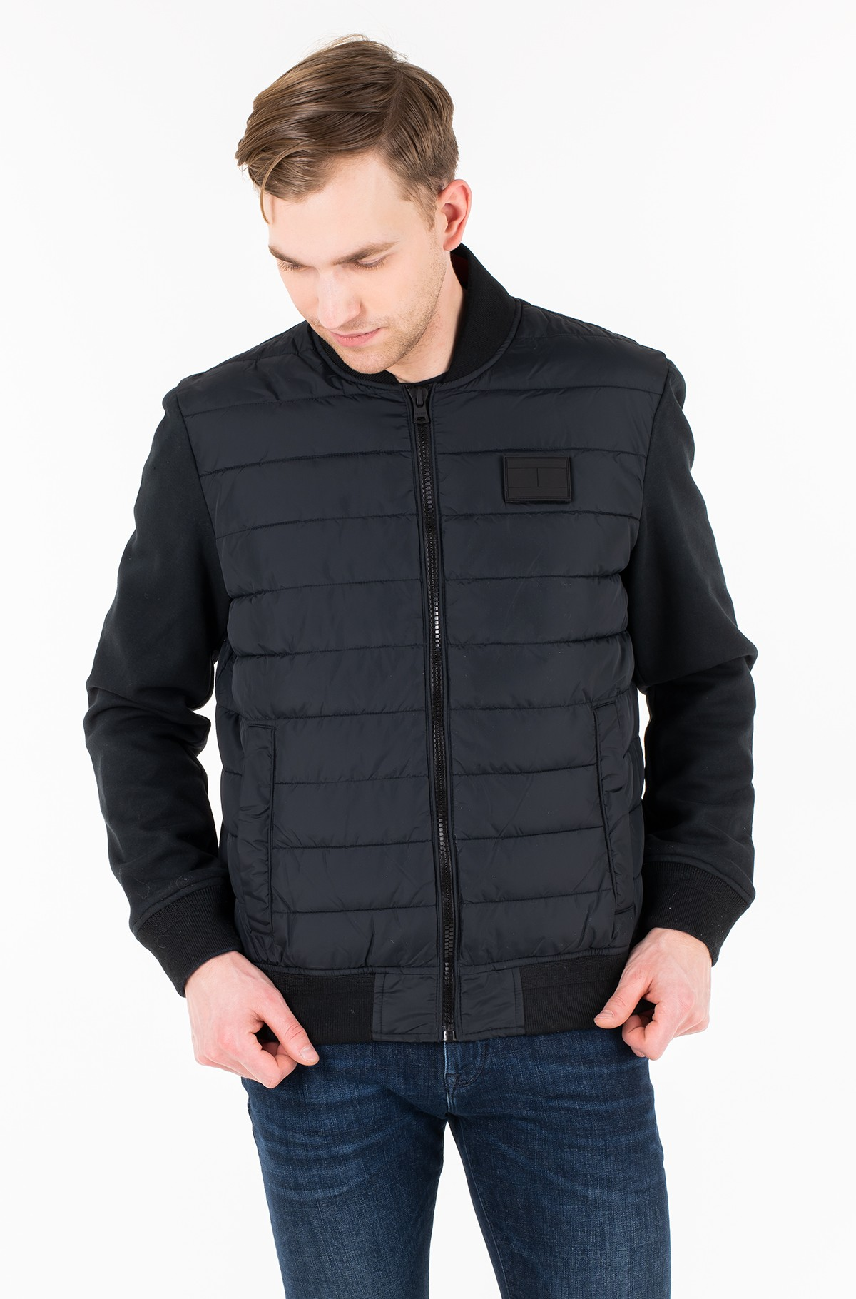 Jope INSIDE STRIPE RIB QUILTED BOMBER-full-1
