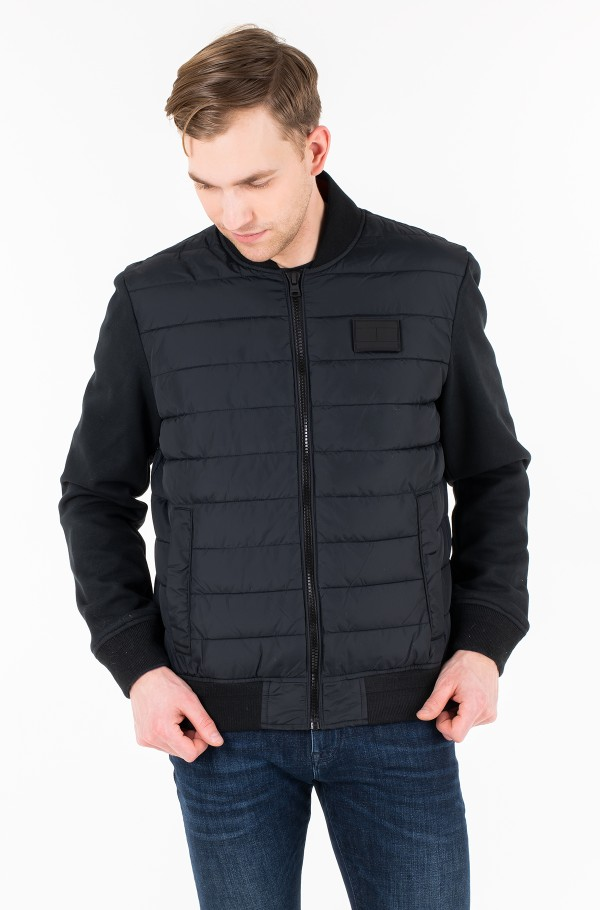 INSIDE STRIPE RIB QUILTED BOMBER