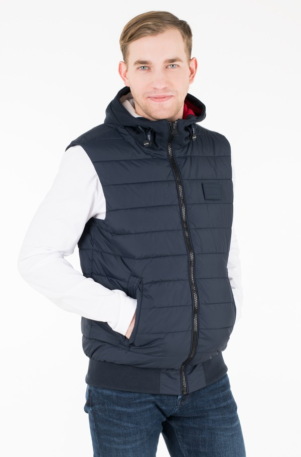INSIDE STRIPE RIB QUILTED VEST
