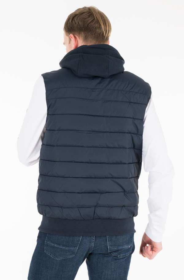 INSIDE STRIPE RIB QUILTED VEST-hover