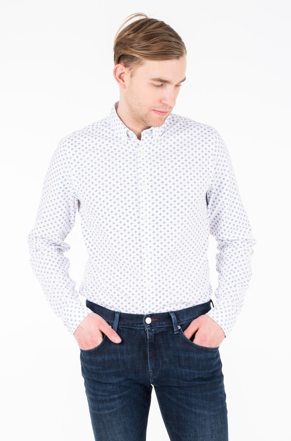SLIM MULTI GEO PRINT SHIRT