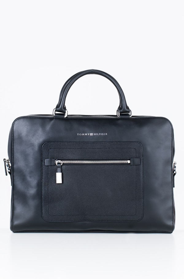 CORPORATE LEATHER COMPTR BAG STP