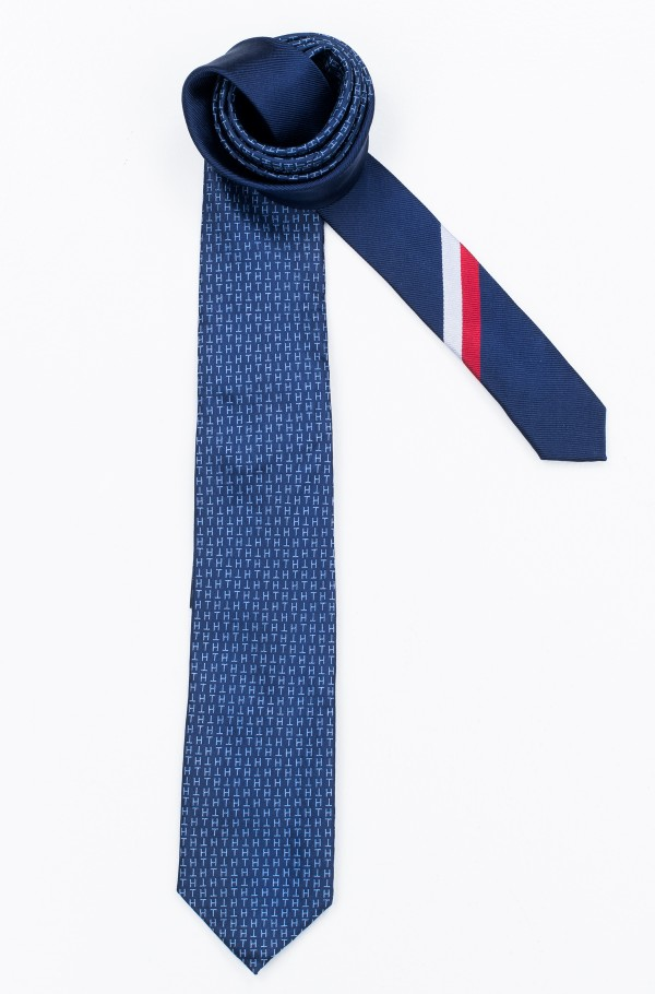 SILK TH LOGO DESIGN 7CM TIE