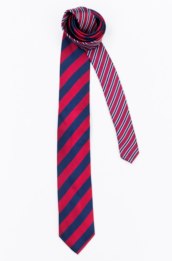 SILK CLUB STRIPE 7CM TIE