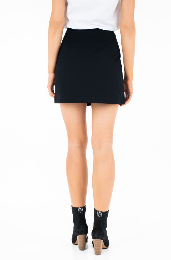 COTTON BUTTONED MINI SKIRT-hover