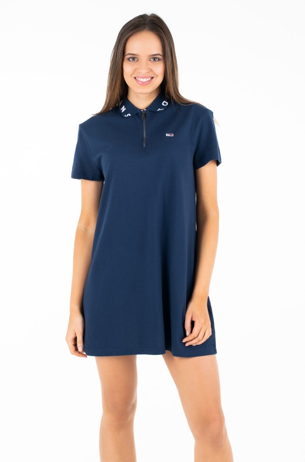 TJW COLLAR DETAIL POLO DRESS
