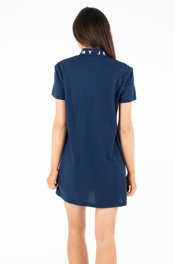 TJW COLLAR DETAIL POLO DRESS-hover