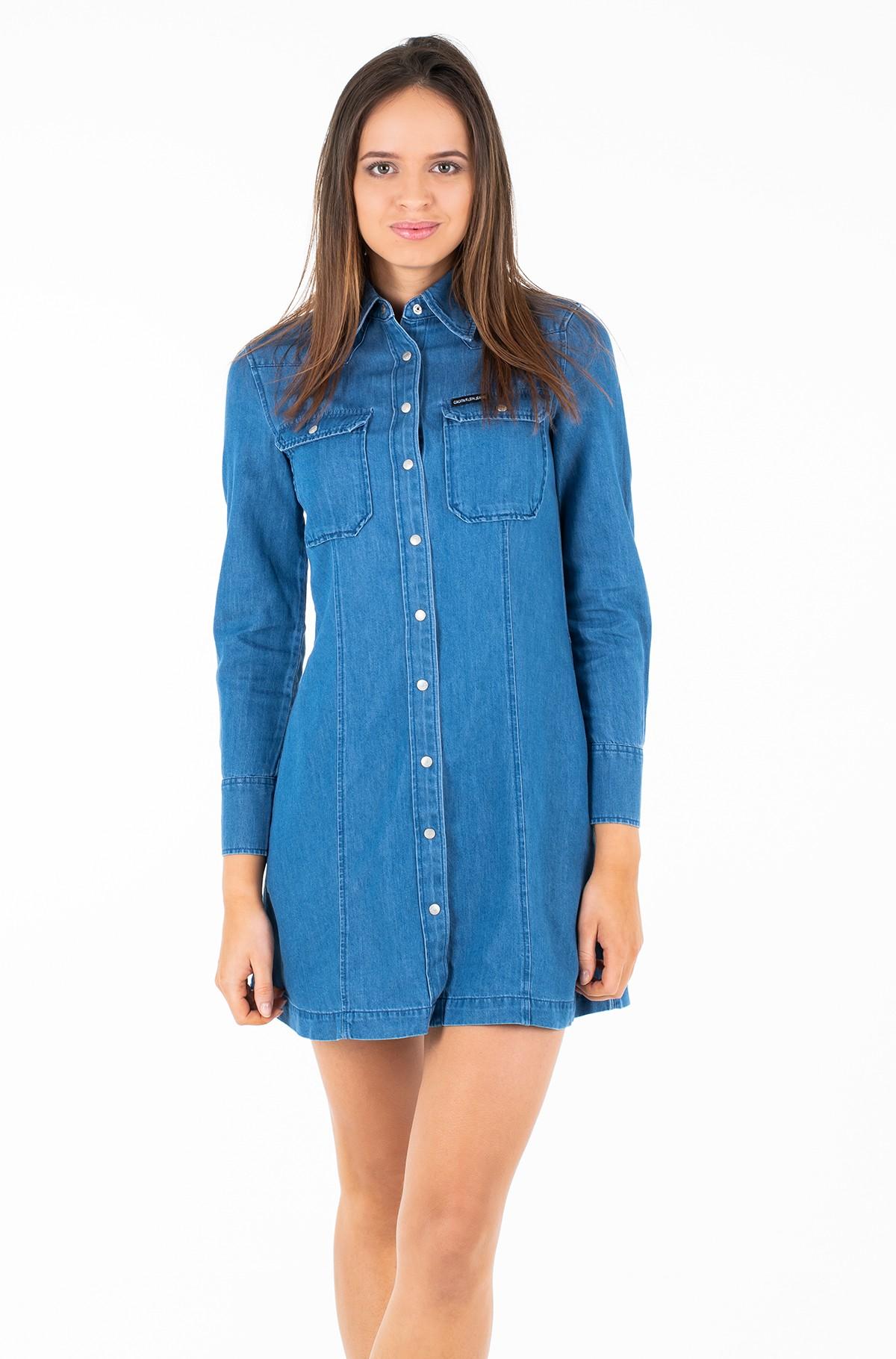 Kleit INDIGO TENCEL SHIRT DRESS-full-1