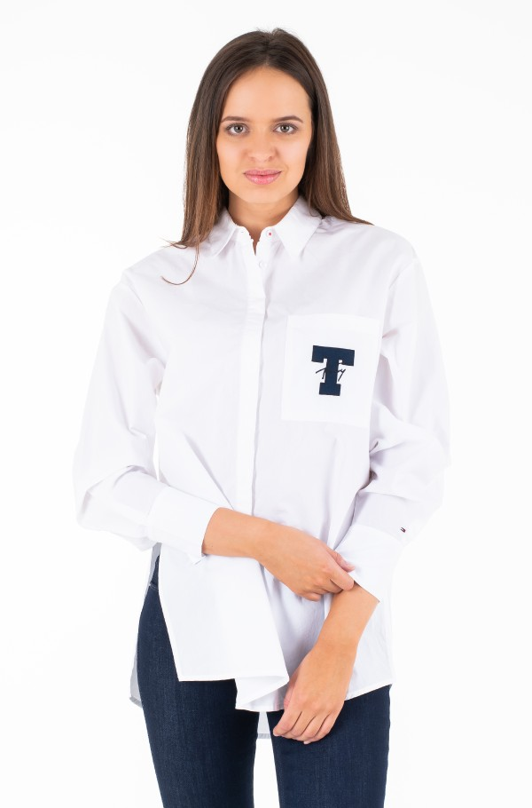TJW SOLID TOMMY DETAIL SHIRT