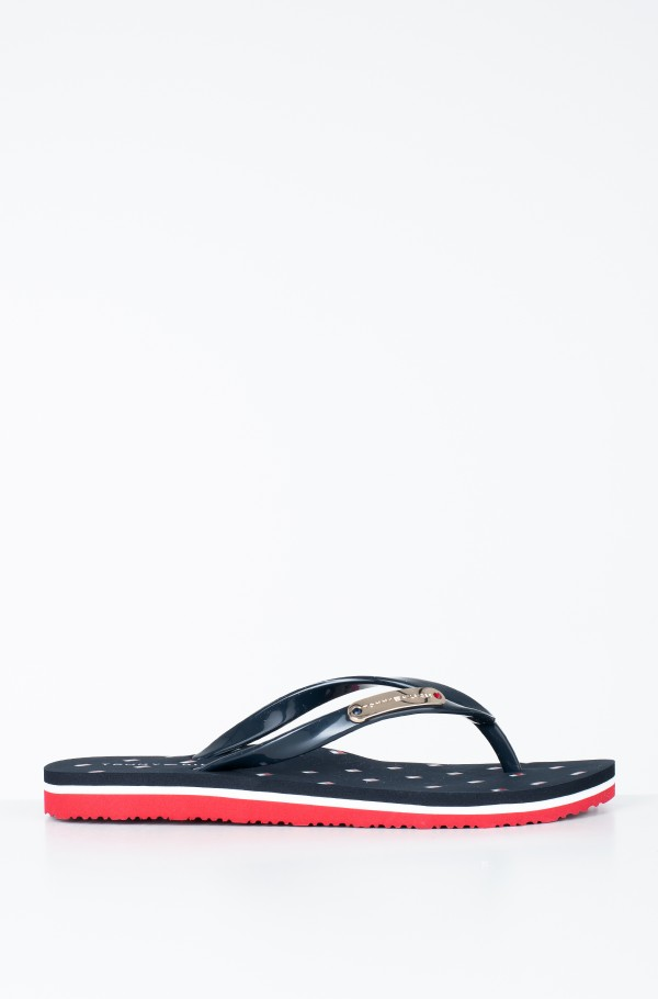 FLAG PRINT RUBBER BEACH SANDAL