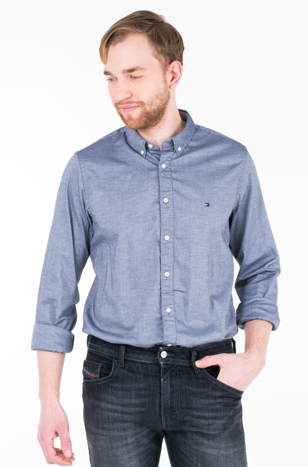 SLIM STRETCH HEATHER DOBBY SHIRT