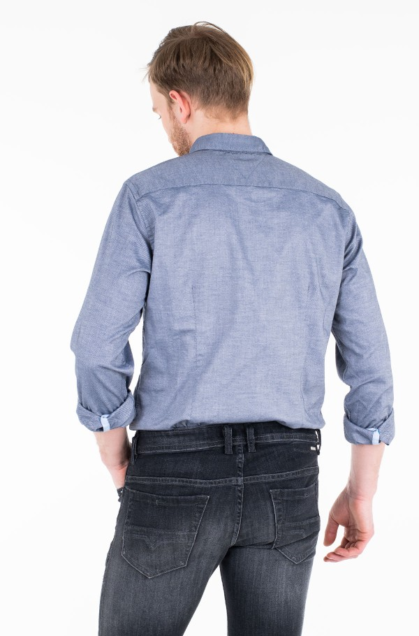 SLIM STRETCH HEATHER DOBBY SHIRT-hover