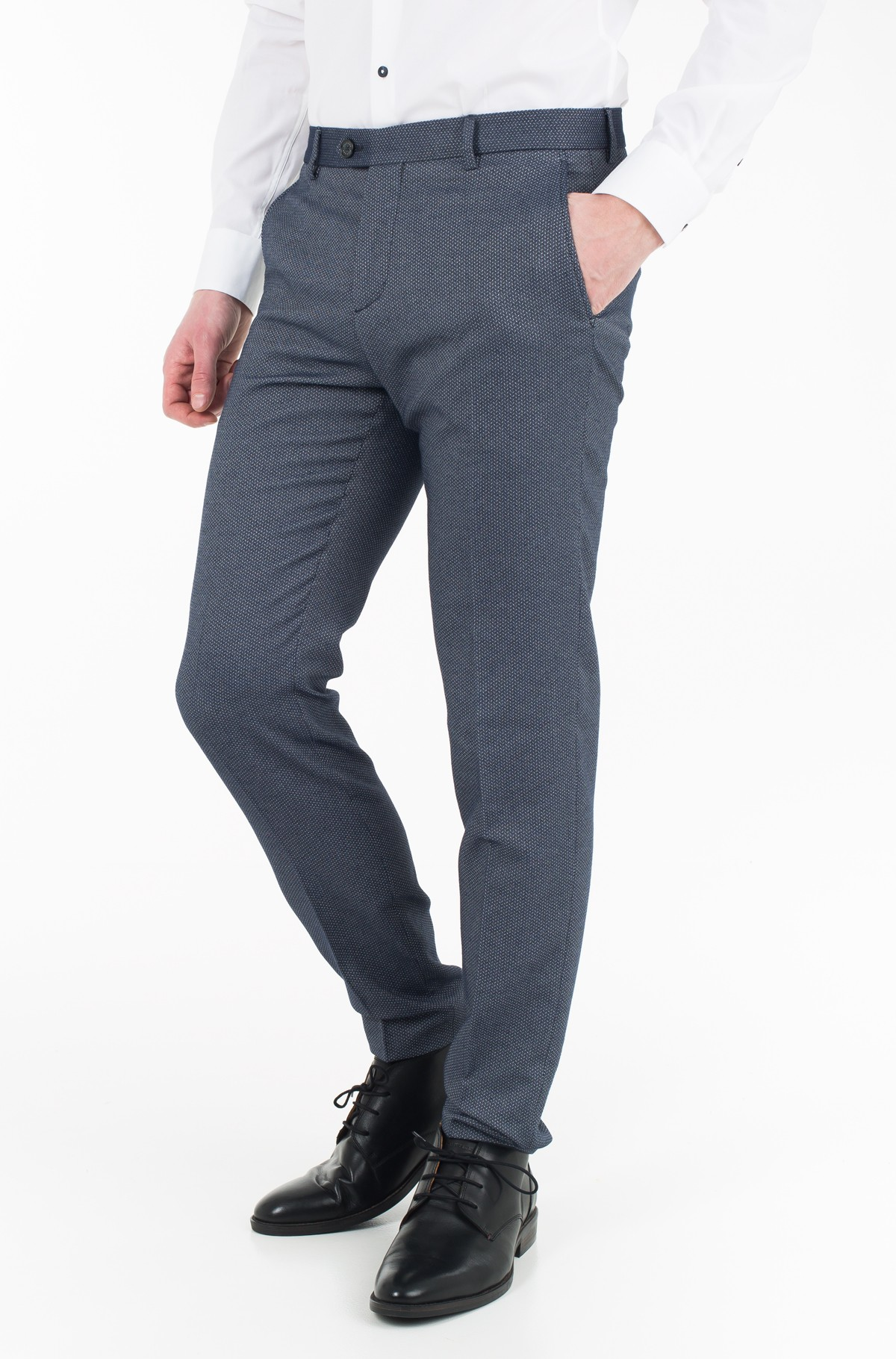 Trousers COTTON STRUCTURE SLIM FIT PANTS-full-1