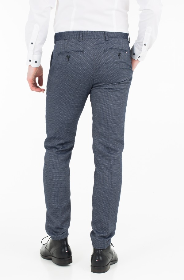 COTTON STRUCTURE  SLIM FIT PANTS-hover