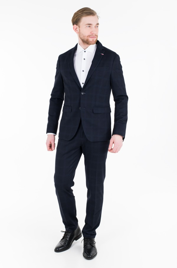 JERSEY CHECK SLIM FIT SUIT