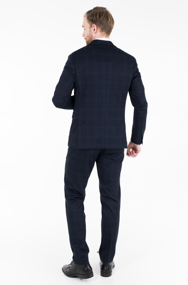 JERSEY CHECK SLIM FIT SUIT-hover