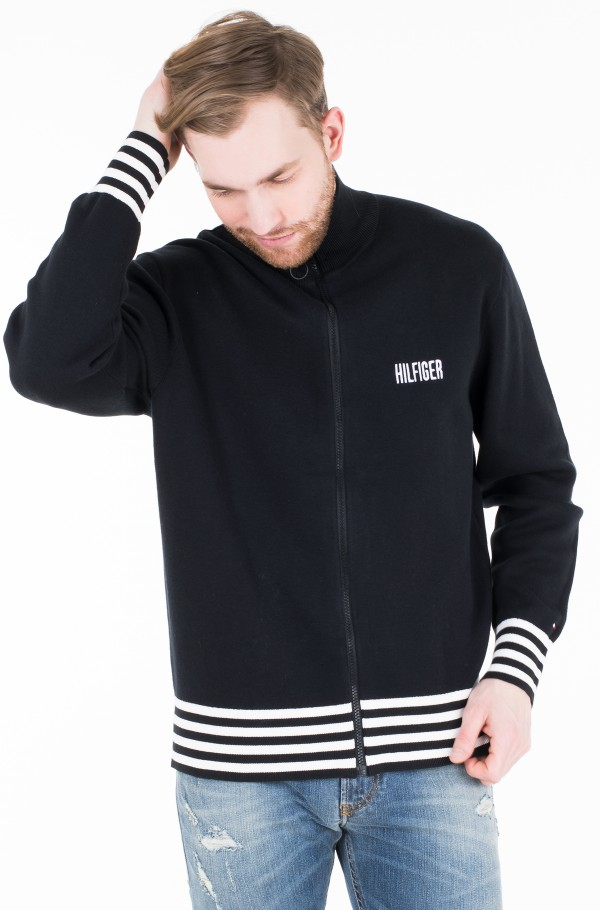 RELAXED FIT TIPPED ZIP THROUGH
