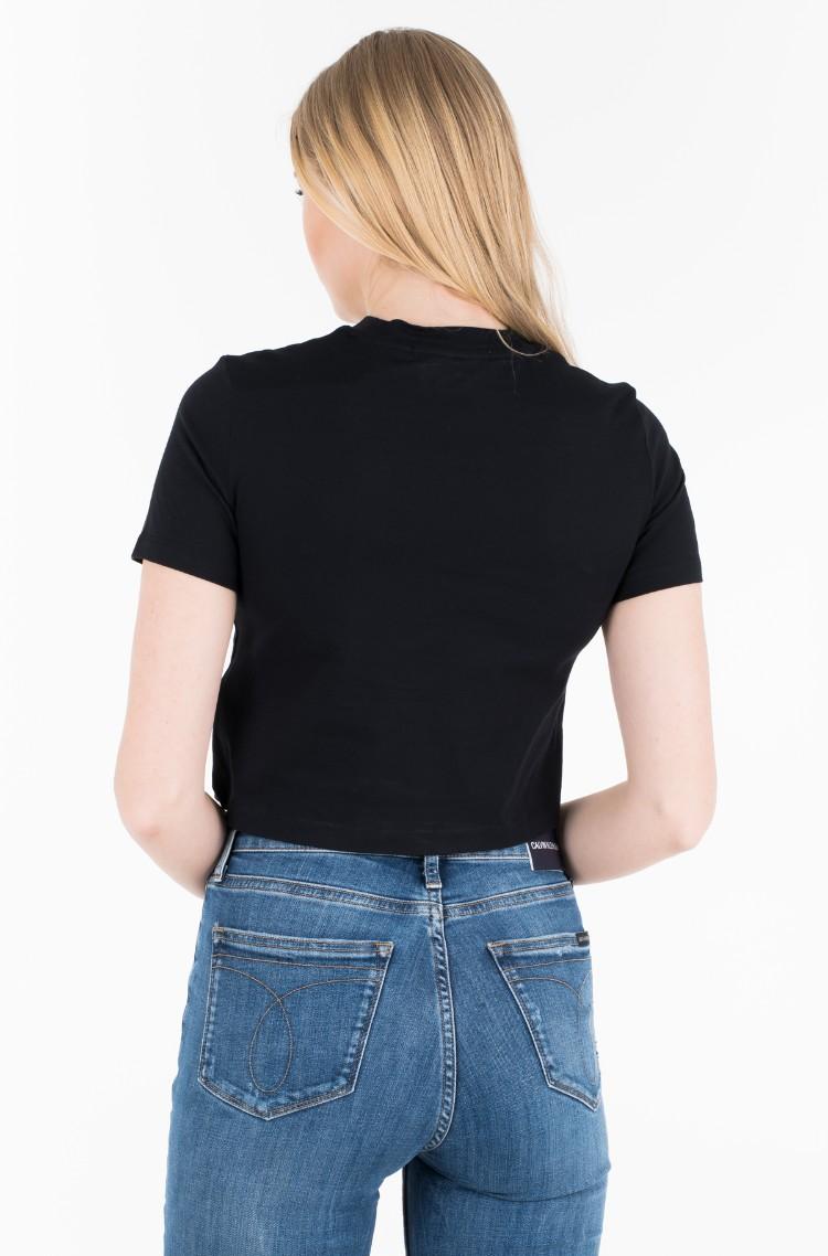 880437e962b T-shirt MODERNIST WAVE STRAIGHT CROP Calvin Klein, Womens Short ...