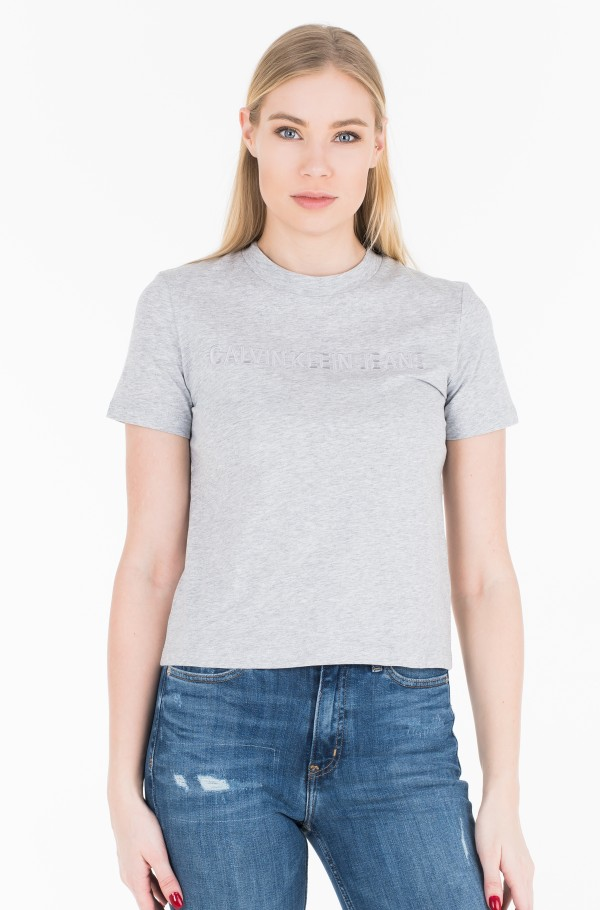 INSTIT. EMBROIDERED STRAIGHT T