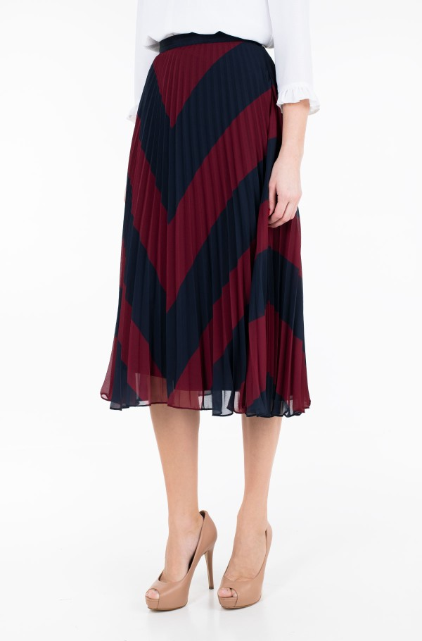 ROSE PLEATED MIDI SKIRT