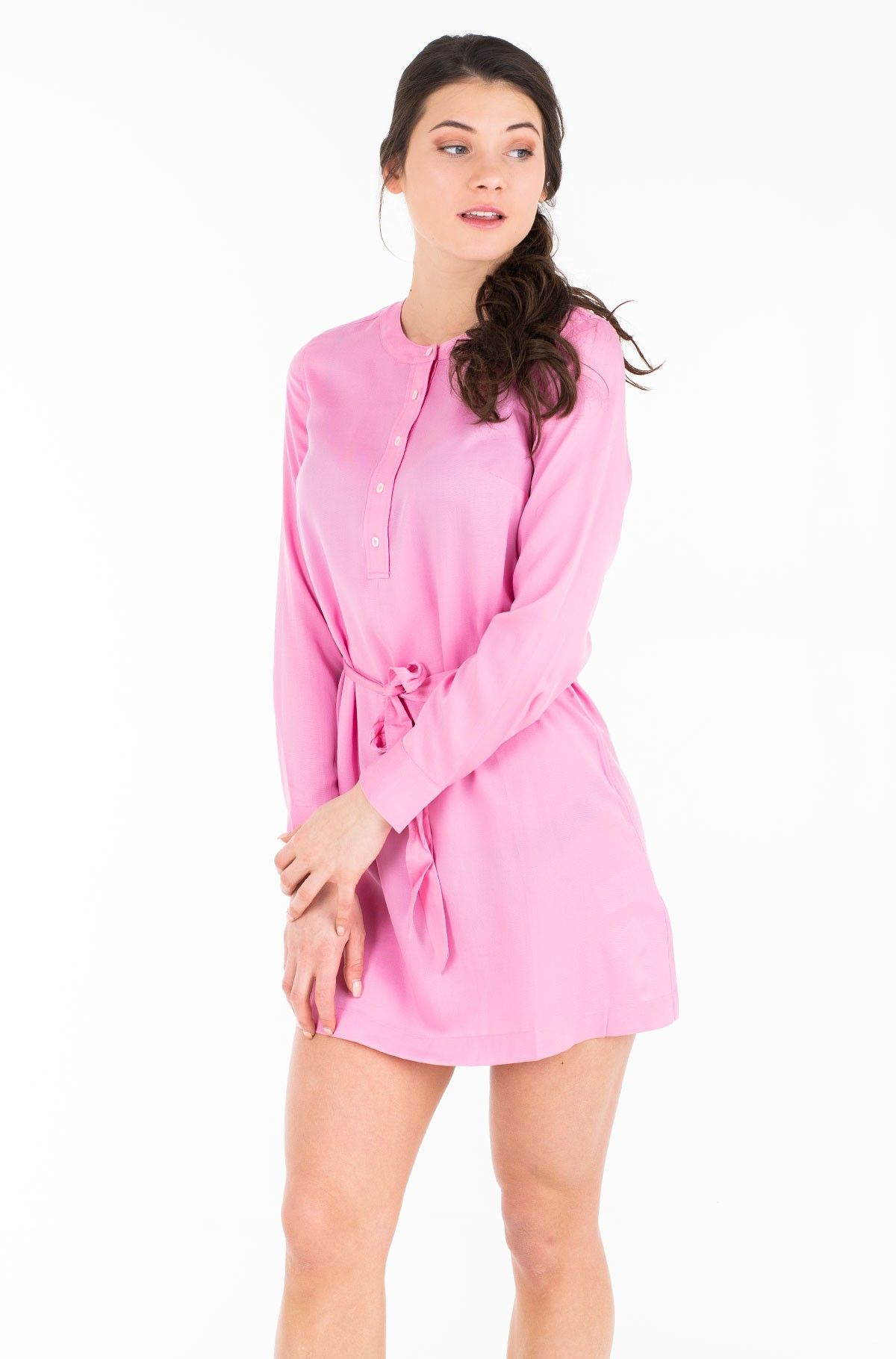 Kleit TENCEL TIE DRESS LS-full-1
