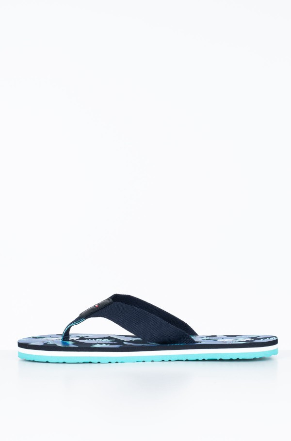 FLAT BEACH SANDAL FLORAL PRINT-hover