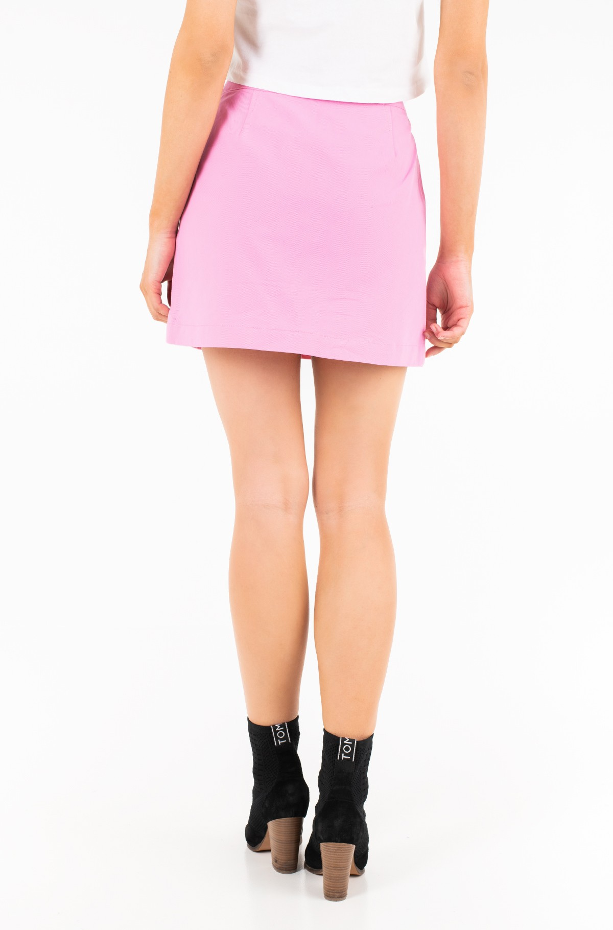 Seelik COTTON BUTTONED MINI SKIRT-full-2