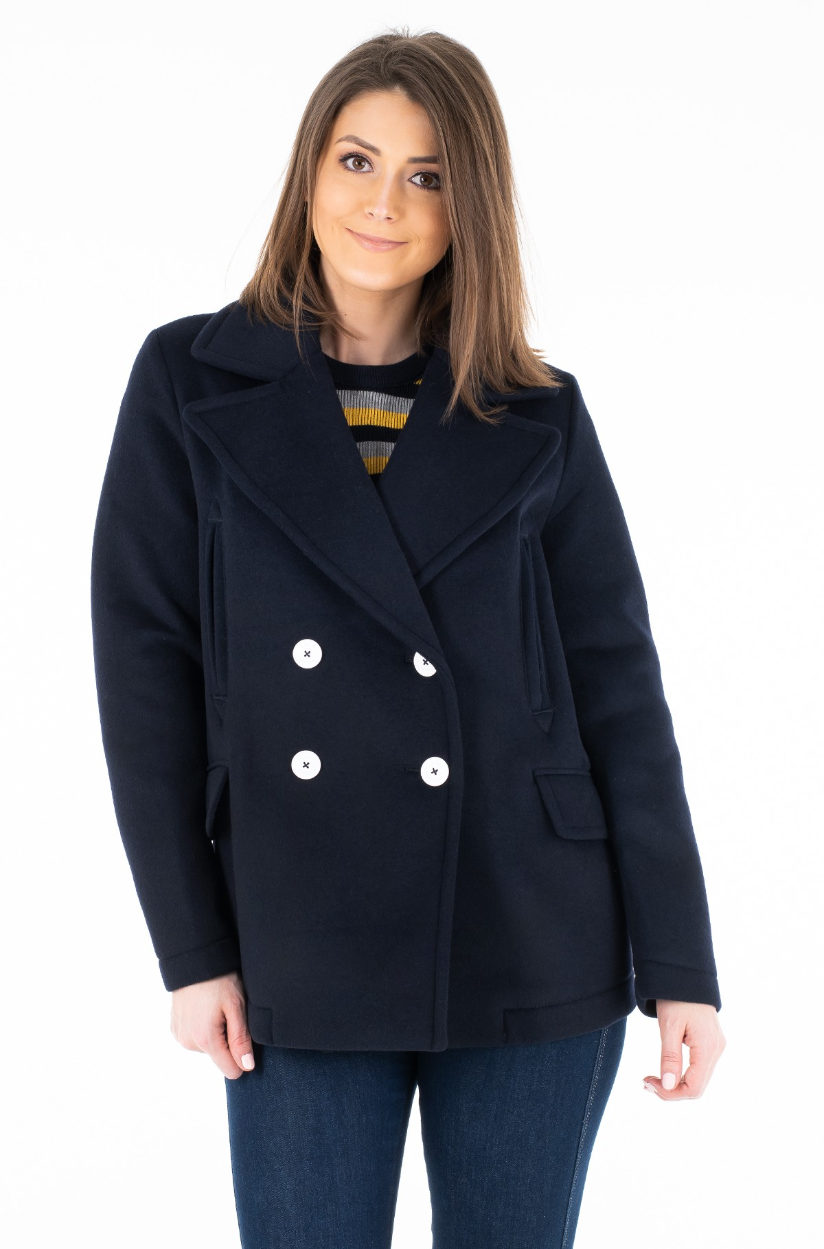 Mantel FILI BONDED WOOL BLEND PEACOAT-full-1