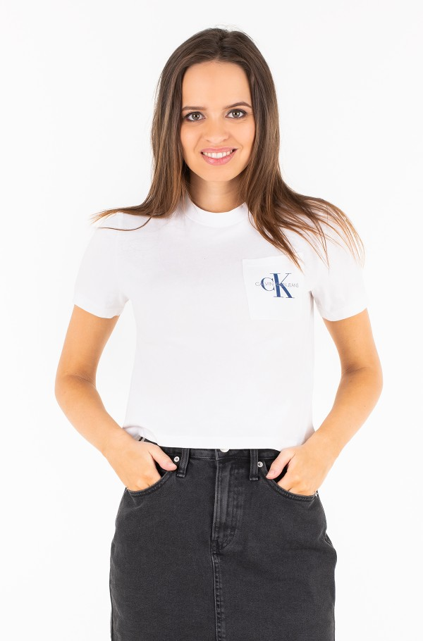 MONOGRAM CROP POCKET TEE