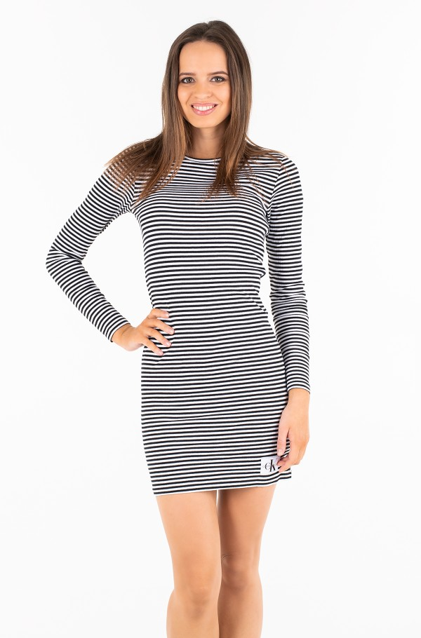 STRIPED RIB DRESS