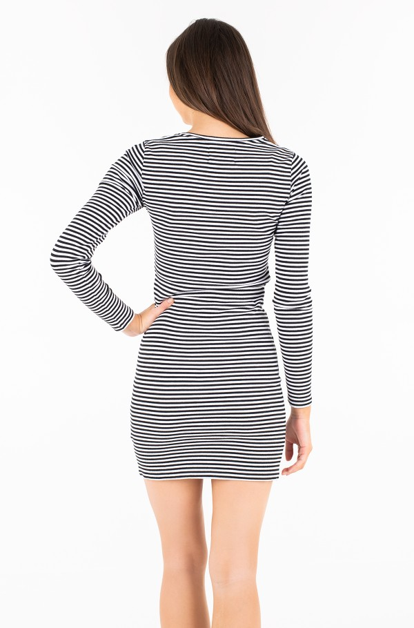STRIPED RIB DRESS-hover