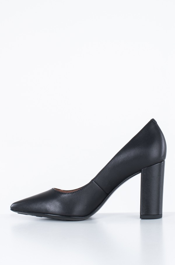 DRESSY LEATHER HIGH HEELED PUMP-hover